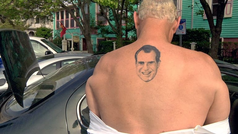 Roger Stone Is Going to Jail and Taking His Nixon Tattoo with Him
