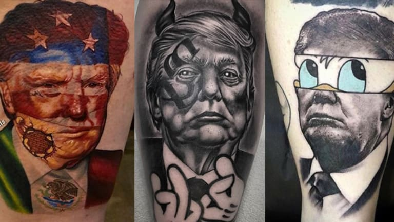 Check Out These Trump Tattoos While Listening to the Impeachment Hearings
