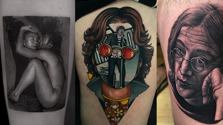 Honor the Anniversary of John Lennon's Death with 20 Dreamy Tattoos