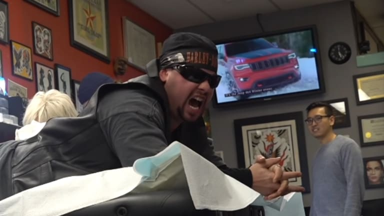 Screaming Prankster Becomes Tattoo Client From Hell