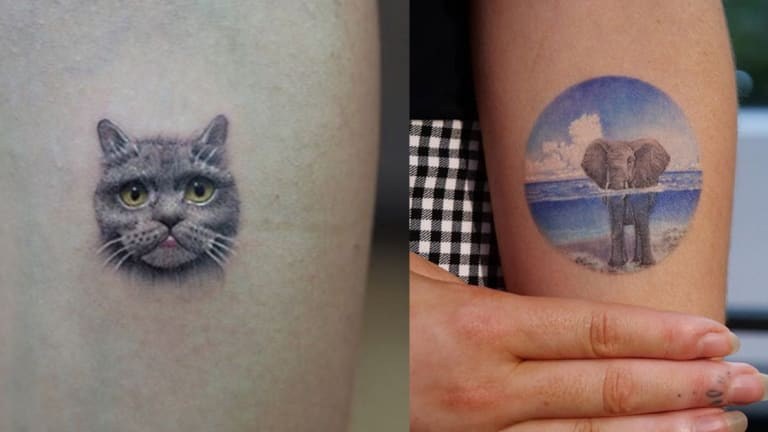 75 Colorful Micro Tattoos by Some of the World's Best Artists