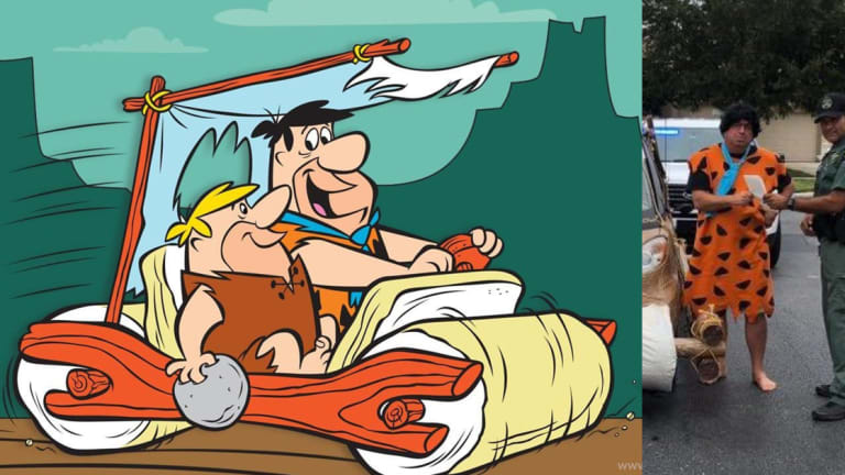 "Man Issued Summons for Driving ""Authentic"" Fred Flintstone Car!"
