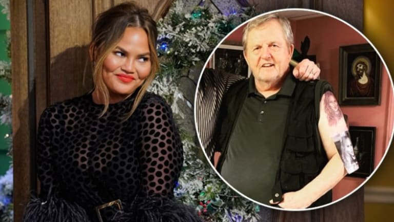 Chrissy Teigen's Dad Gets Her Face Tattooed For Her 33rd Birthday