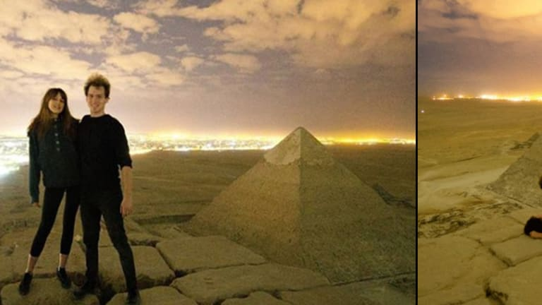 Danish Photographer Posts Video of Himself Having Sex with a Naked Woman On Top of the Great Pyramid of Giza