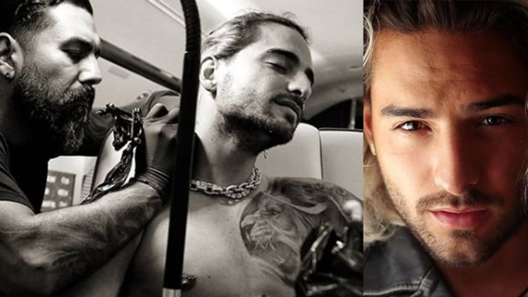 Exclusive: Maluma's Tattoo Artist Shares Inside Scoop on Giving the Singer a Neck Tattoo at 43,000 ft