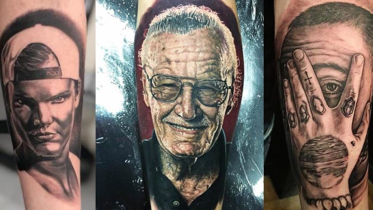11 Celebrities Who Died in 2018 Illustrated in Ink