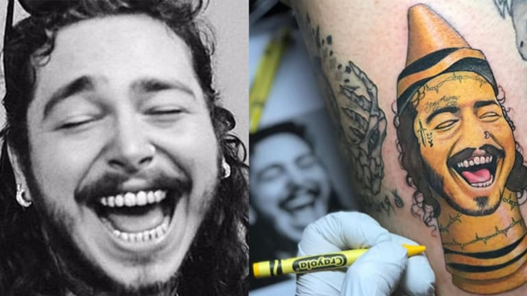 This Oregon Tattoo Artist Turns Celebrities Post Malone and Biggie Smalls into Crayola Caricatures