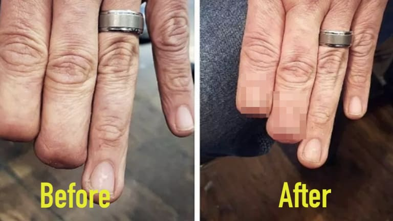 Illinois Man's Finger Tattoos Go Viral For All the Right Reasons