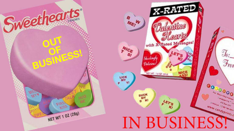 Sweethearts Valentine Candy Out of Business?! But Available at INKEDSHOP.com!
