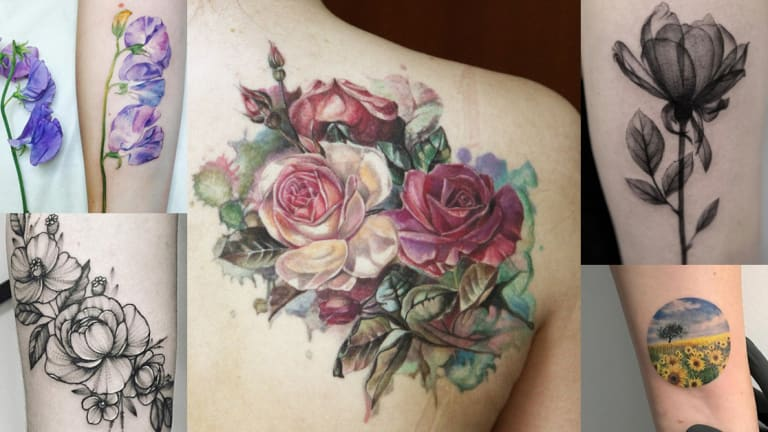 20 Botanical Tattoo Artists You Need To Follow