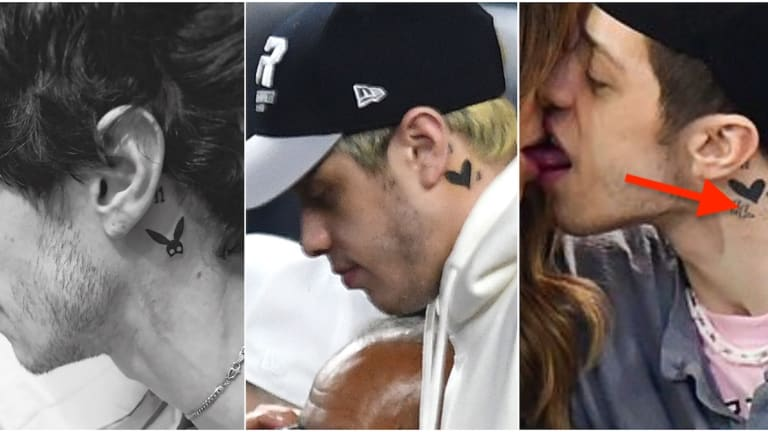 Pete Davidson Flashes New Neck Tattoo While Internet Remains Concerned About Kate Beckinsale's Age