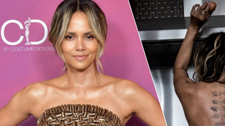 Halle Berry Reveals New Tattoo in Topless Instagram Pic