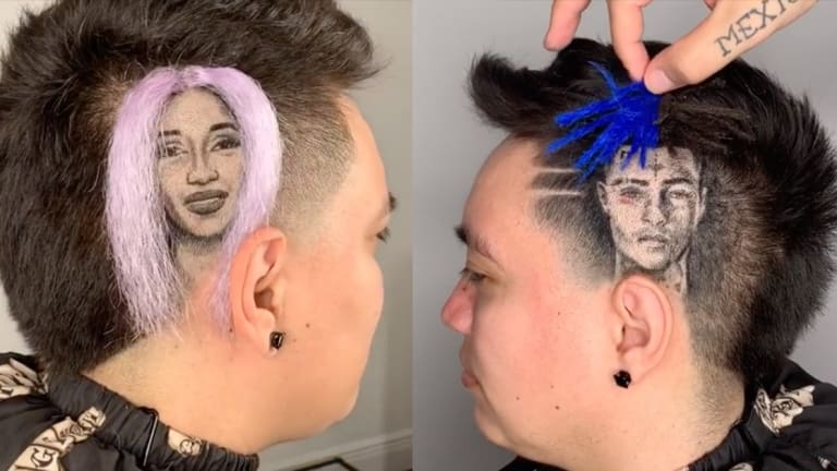 This Barber Creates Celebrity Portraits Using His Client's Real Hair