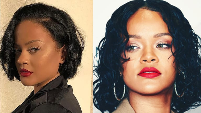 This Tattooed Beauty Could Be Rihanna's Twin