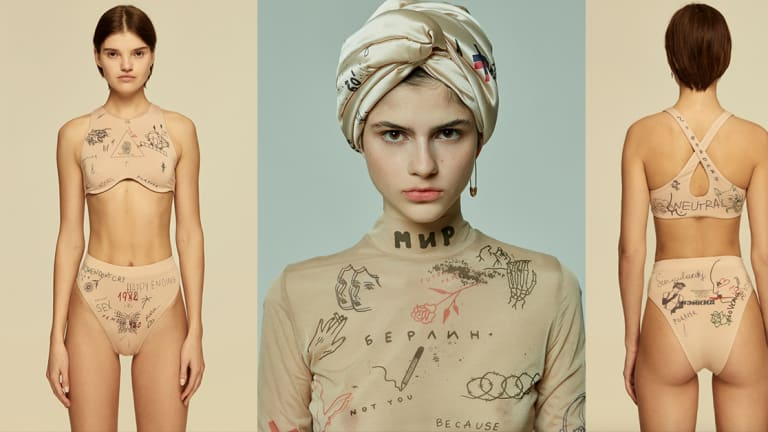 This Ukrainian Fashion Brand Collaborates with World-Renowned Tattoo Artists