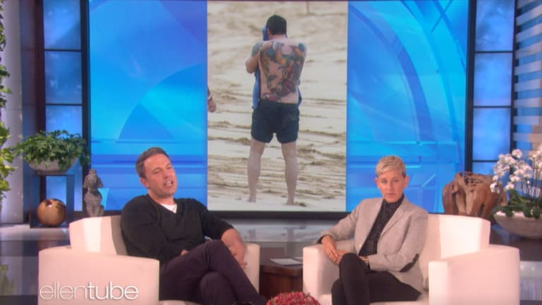Ben Affleck Addresses His Back Tattoo For the First Time on Ellen