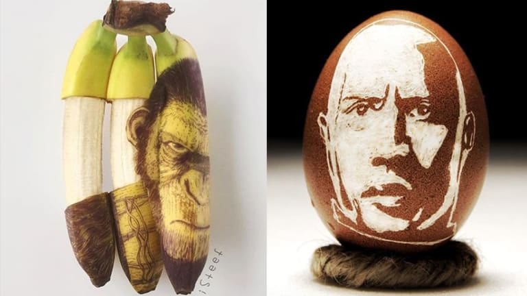 This Artist Turns Eggs, Avocados, and Bananas into Mind-blowing Masterpieces