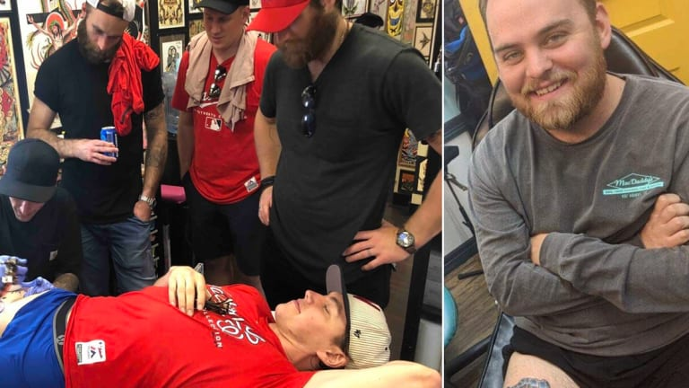 Washington Capitals' Fan Gets A Wario Stanley Cup Tattoo To One-Up TJ Oshie