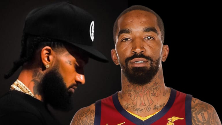 JR Smith Gets a Tattoo Homage to Nipsey Hussle