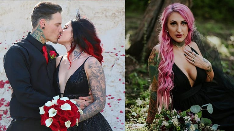 30 Tattooed Brides in Unconventional Wedding Dresses