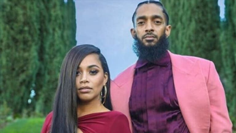 Lauren London Gets a Tattoo For Nipsey Hussle