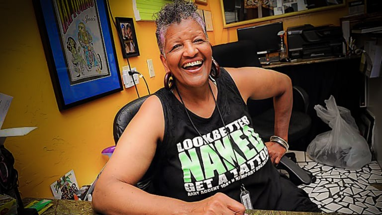 Meet the 71-Year-Old African American Female Tattoo Artist, Jacci Gresham, Tattooing New Orleans for 46 years