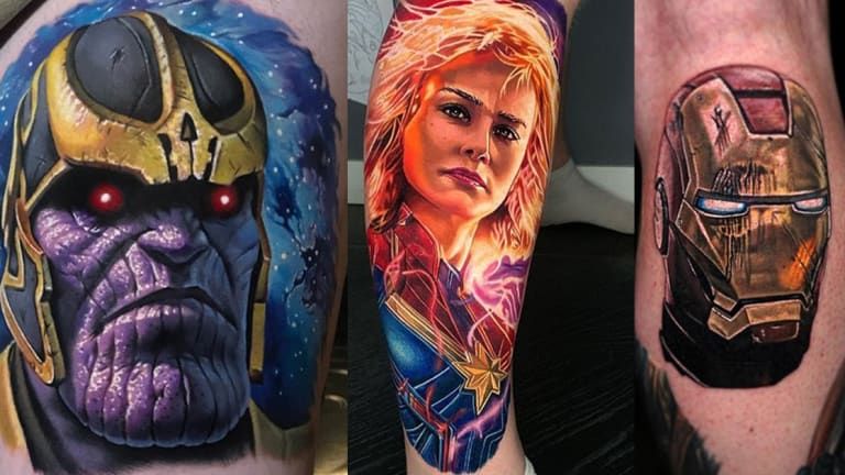 14 Heroic Tattoos of Characters from Avengers: Endgame