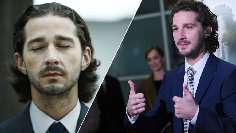 "Shia LaBeouf Reveals New, Huge ""Creeper"" Stomach Tattoo"