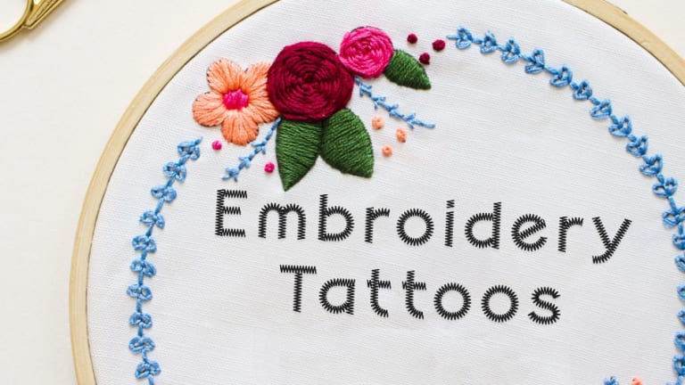 Embroidery Tattoos Are On The Rise and Are 100% Grandma Approved