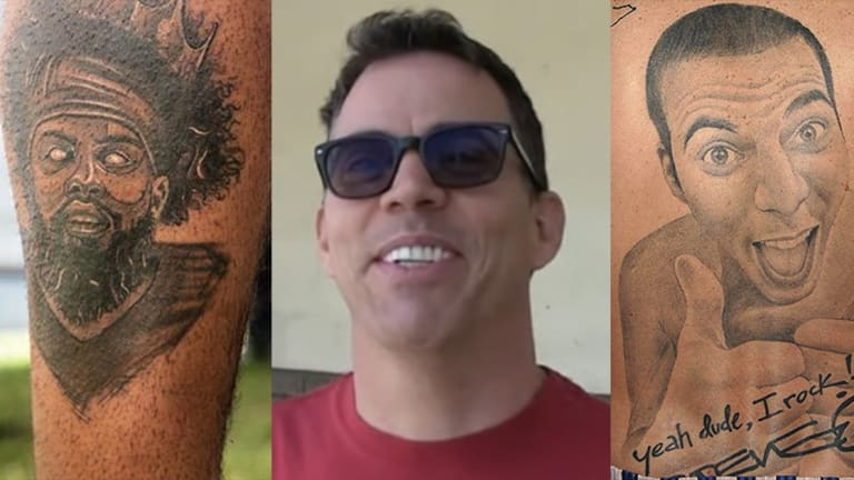 Steve-O Calls Out Zeke Elliott's 'Self-Tat' on TMZ