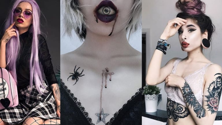 20 Gorgeous Tattooed Goths For World Goth Day, Plus TOOPOOR Exclusive