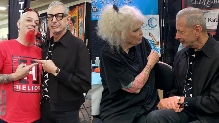 Jeff Goldblum Attends Baltimore Tattoo Convention