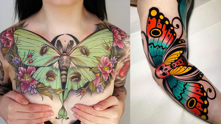 From Luna to Death's-Head: 25 Magnificent Moth Tattoos