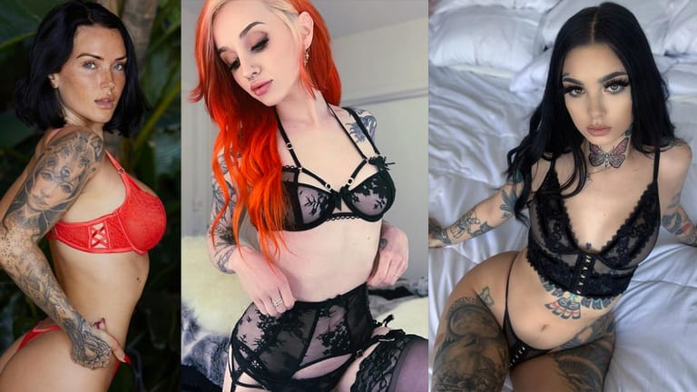 Celebrate National Underwear Day with 50 Tattooed Babes in Gorgeous Lingerie