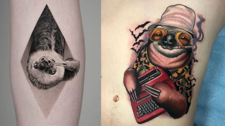 Take Things Slow with 40 Charming Sloth Tattoos