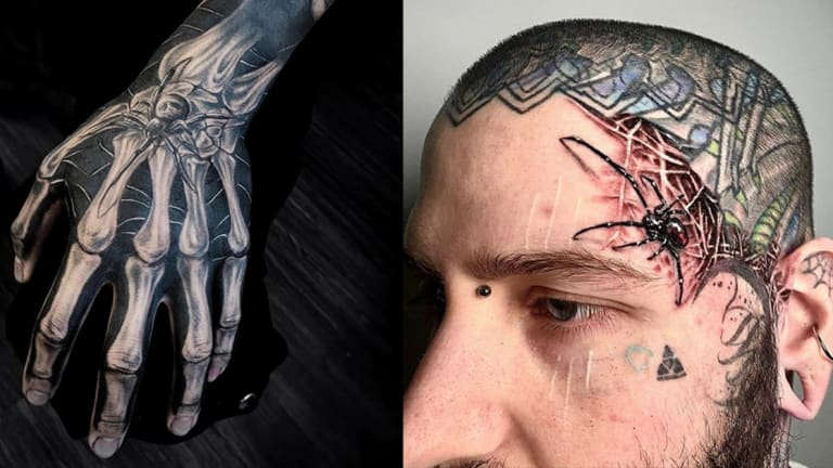 30 Creepy Crawly Spider Tattoos