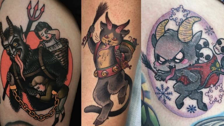 75 Fearsome and Festive Krampus Tattoos