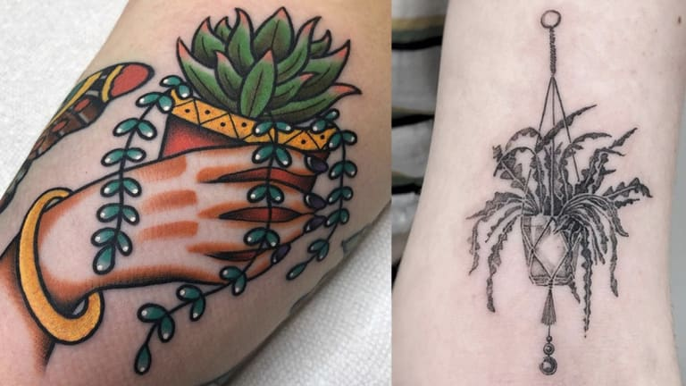 50 Tattoos for House Plant Lovers