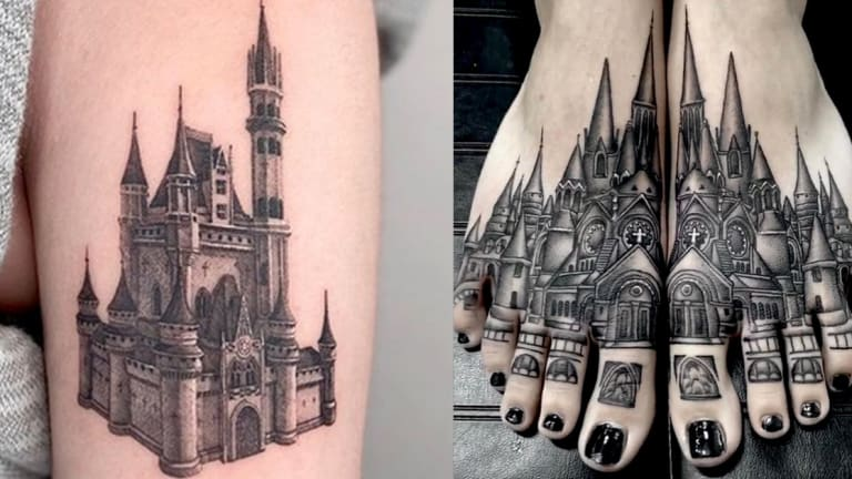 50 Castle Tattoos Fit for Royalty