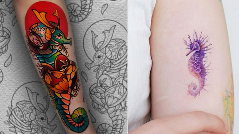 50 Sea-Sational Seahorse Tattoos