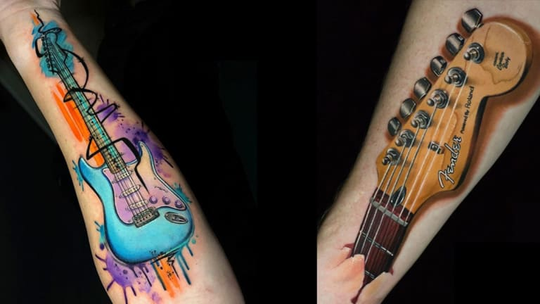 These Guitar Tattoos Shred Hard