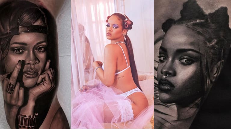 """Celebrate Rihanna's Birthday with 18 Tattoos Inspired by the """"Work"""" Singer"""