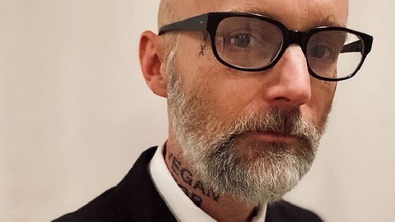 Moby Debuts Another Vegan Neck Tattoo