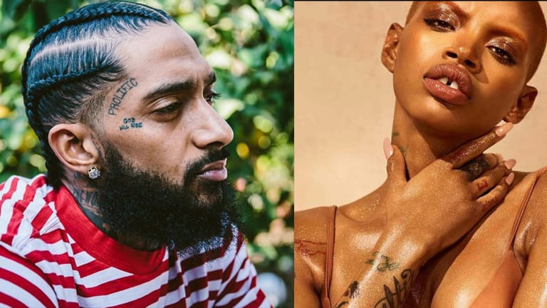 Model Slick Woods Got a Face Tattoo for Nipsey Hussle