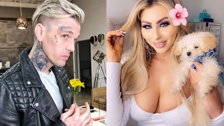Aaron Carter Got His Girlfriend's Name Tattooed on His Face
