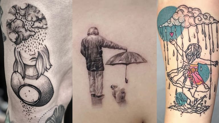 Make the Most of the April Showers with Rain Tattoos