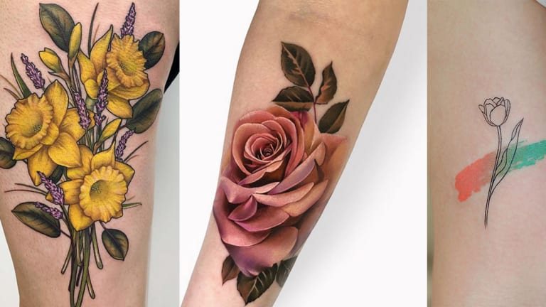April Showers Bring May Flower Tattoos