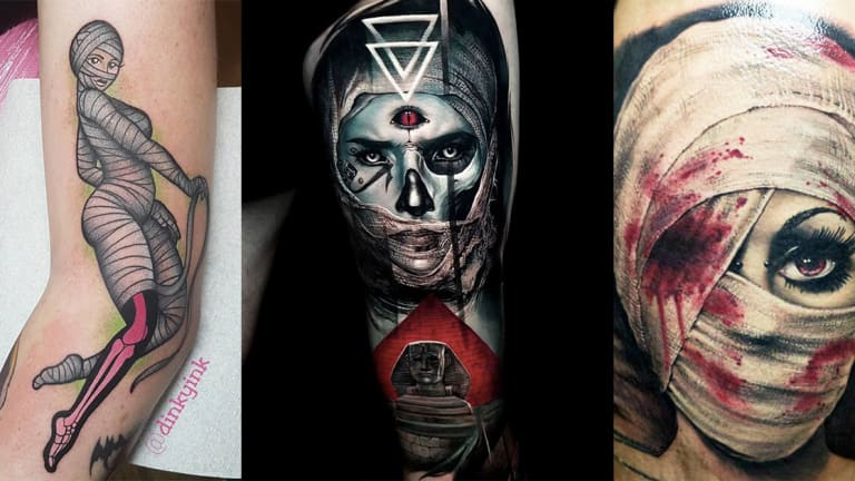 Get Wrapped Up in These Mummy Tattoos