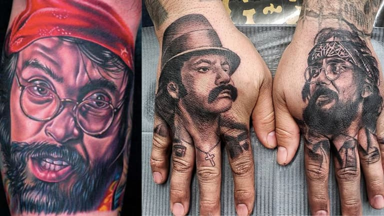 Celebrate Tommy Chong's 82nd Birthday with Cheech and Chong Tattoos
