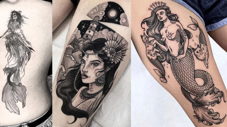 These Mermaid Tattoos are Fintastic